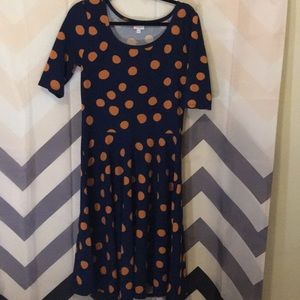 Lularoe Polkadot pattern Nicole dress
